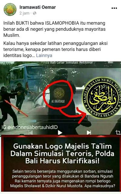 """Gunakan Logo Majelis Ta'lim Pada Jaket """"TERORIS"""", Polda Bali DIKECAM Warganet"""