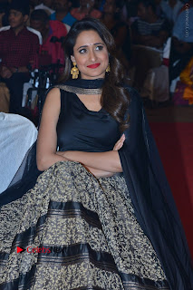 Actress Pragya Jaiswal Stills in Black Dress at Om Namo Venkatesaya Audio Launch Event  0035.JPG