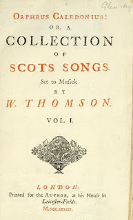 William Thomson's Orpheus Caledonius.