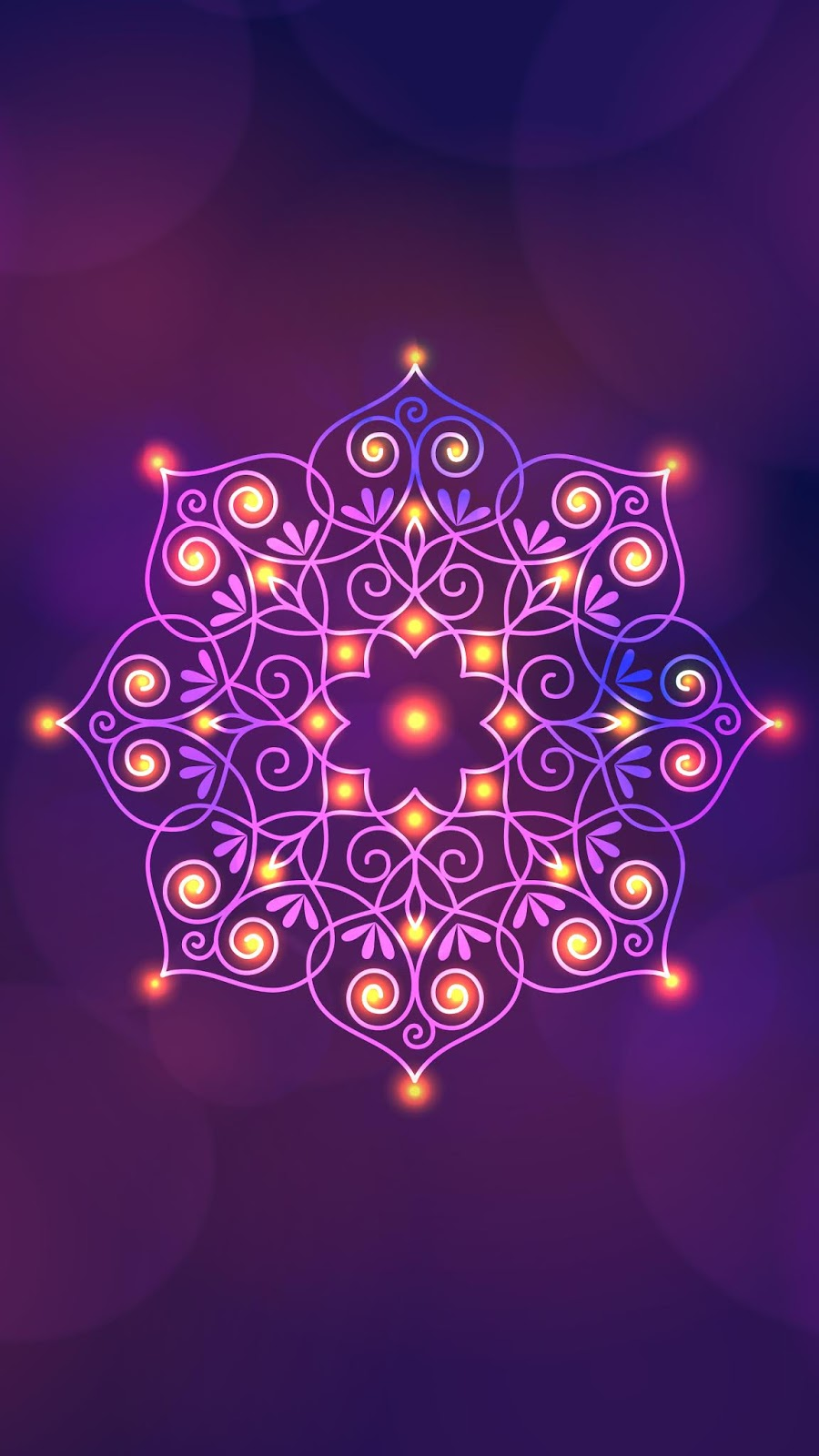 Diwali pink star mobile wallpaper