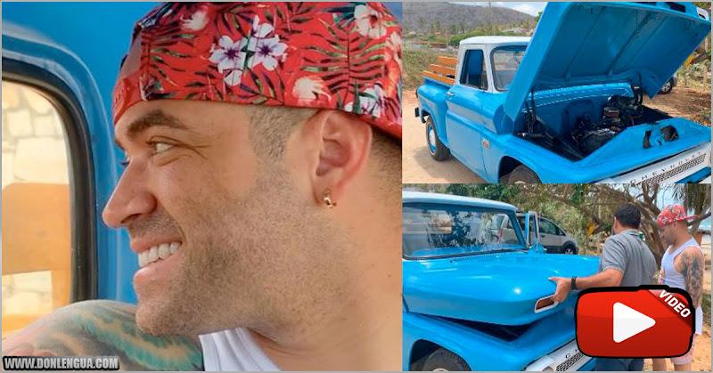 Nacho se encontró en Margarita la camioneta de sus sueños Chevy 66
