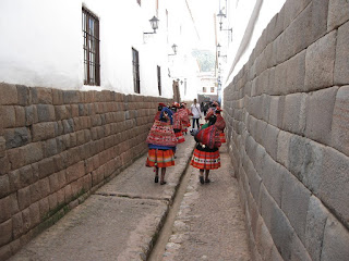 Foto das ruas da cidade. Cusco, a capital Inca
