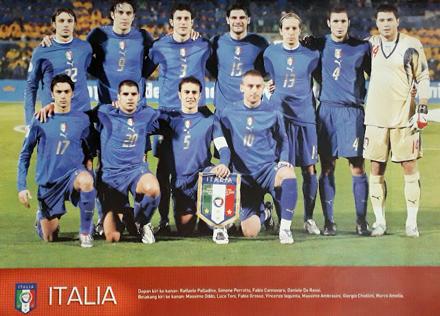 ITALIA FOOTBALL TEAM SQUAD 2007