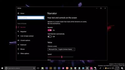 Cara Mengaktifkan Fitur Narrator di Windows 10