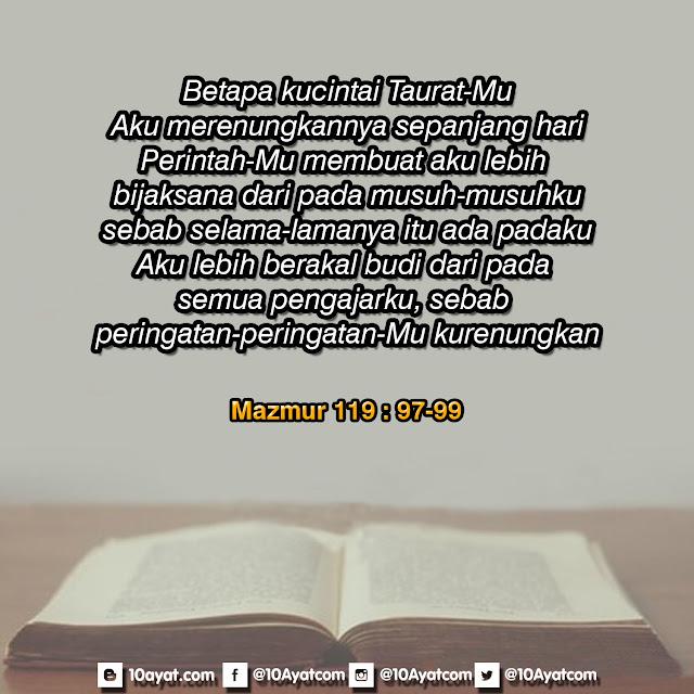 Mazmur 119: 97-99