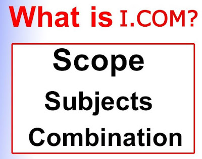I.COM subjects, marks, scope and complete detail