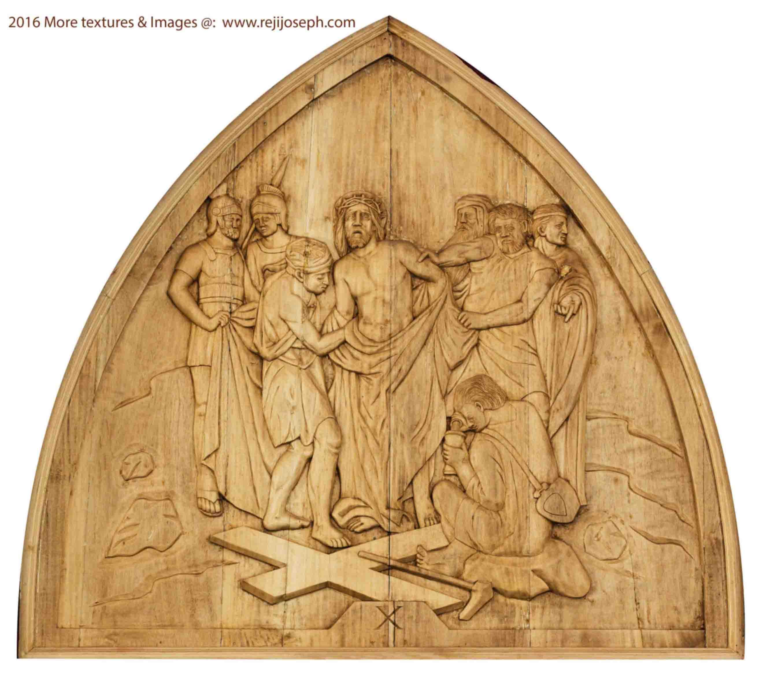Way of the cross wooden relief 010