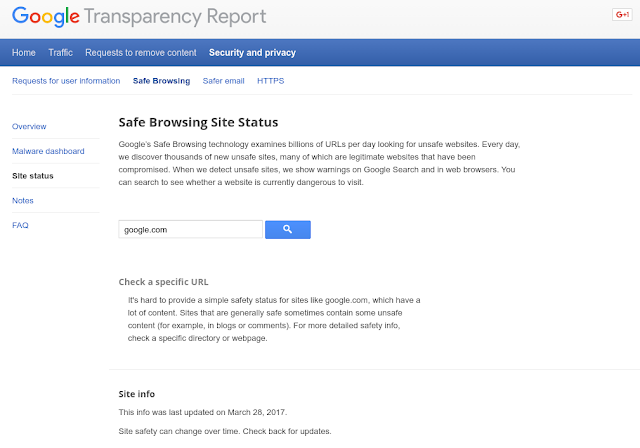 Updates to the Google Safe Browsing's Site Status Tool