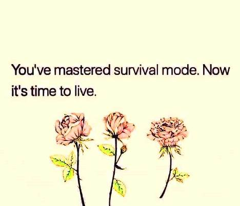 You've mastered survival mode - now it's time to live. #lifequotes