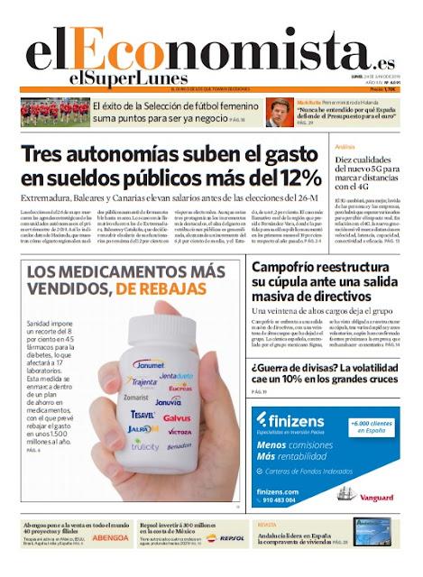 EL SUPERLUNES. Edición de el diario ElEconomista del 24 de Junio 2019.