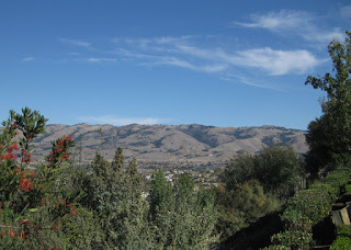 View of Mt. Hamilton and the Diablo Range from the summit of Hassler Road, San Jose, California