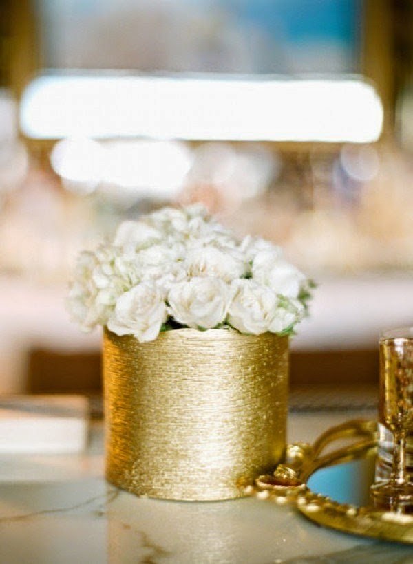 Gold Centerpieces Wedding Reception