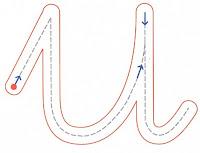 Resultado de imagen de trazo vocales minusculas punteadas