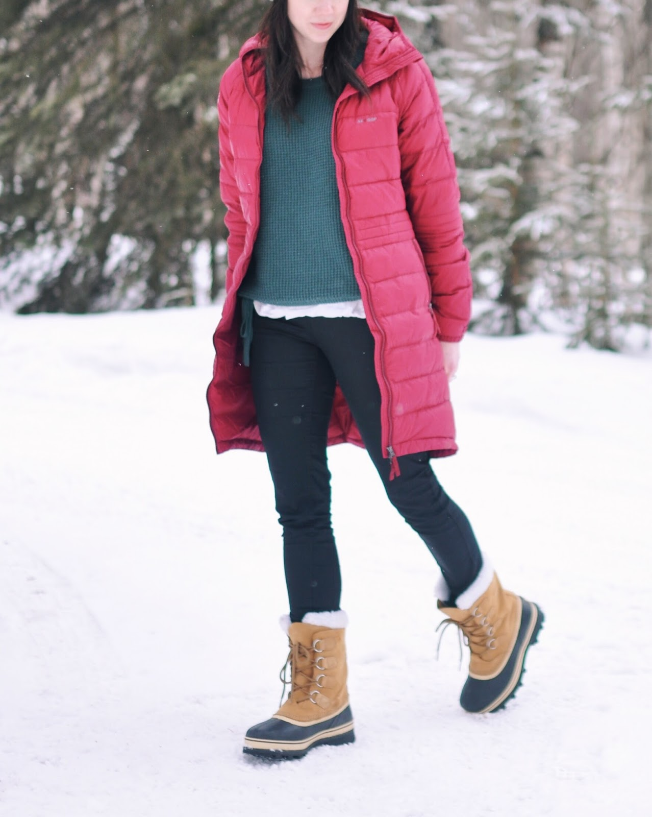 outfit fashion sorel boots skhoop coat winter ideas inspiration