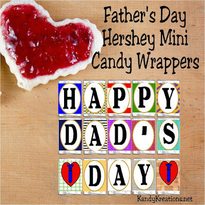 Give dad a gift he'll really love this Fathers Day....with chocolate! These easy Hershey mini printable candy bar wrappers are a perfect gift filled with love and sweetness.