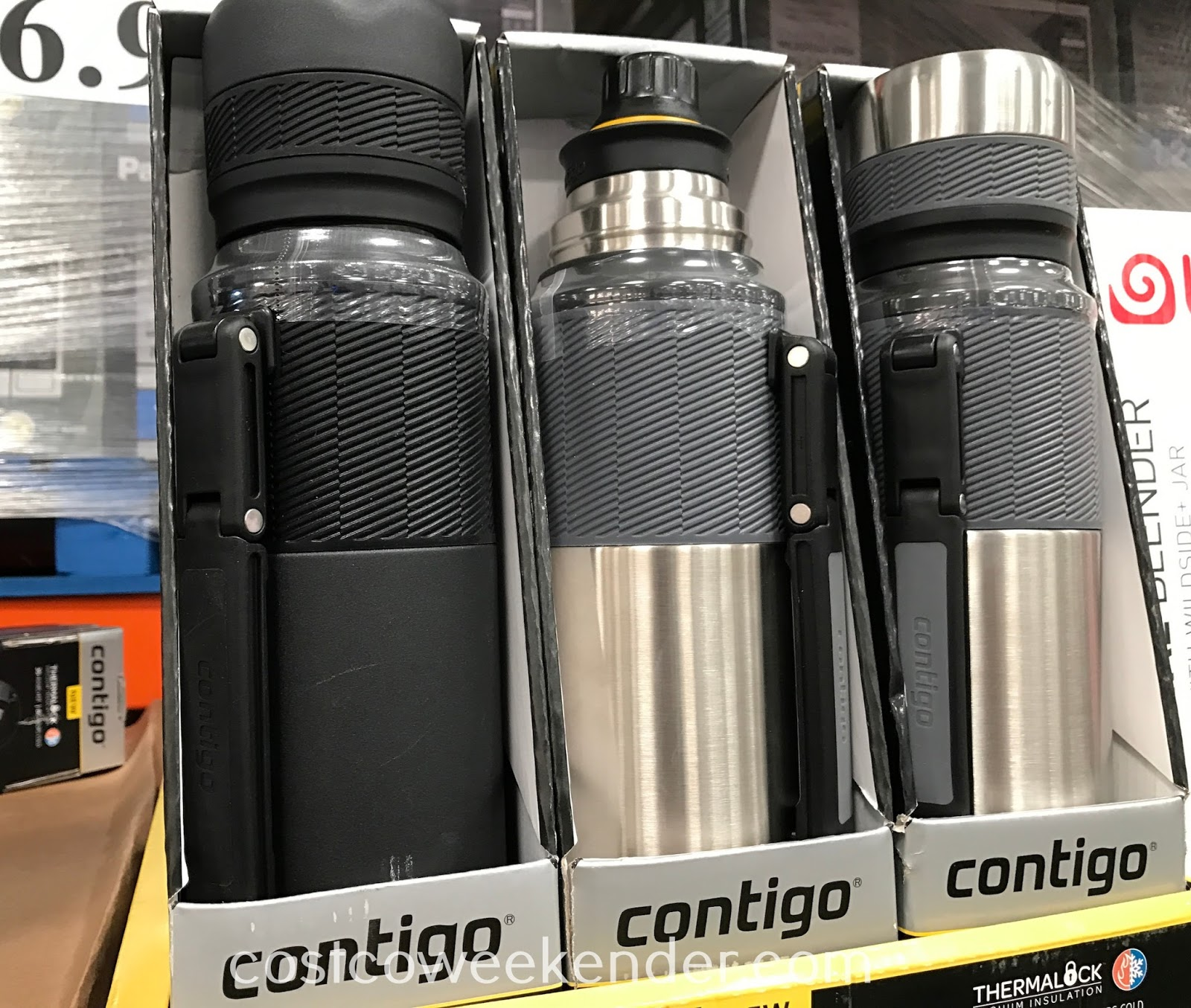 Enjoy a warm or cold beverage on the go with the Contigo Stainless Thermal Bottle