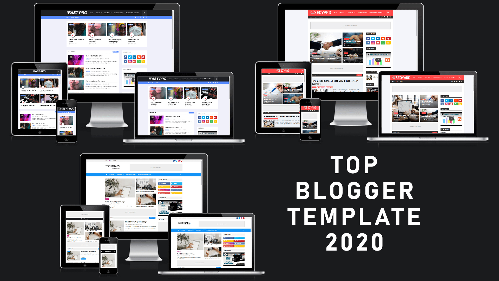 3 TOP BEST FREE BLOGGER TEMPLATES 2020