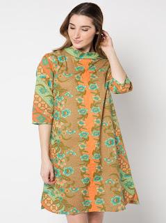 contoh gambar baju batik kerja wanita