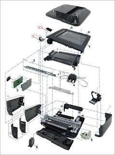 Replace the ink absorber in the bottom unit for Canon MX370 series