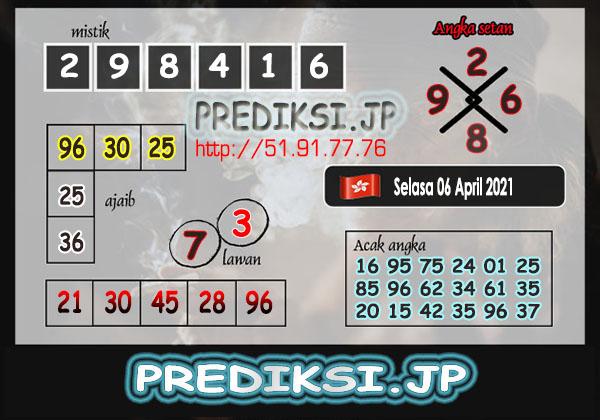 Prediksi JP HK Selasa 06 April 2021