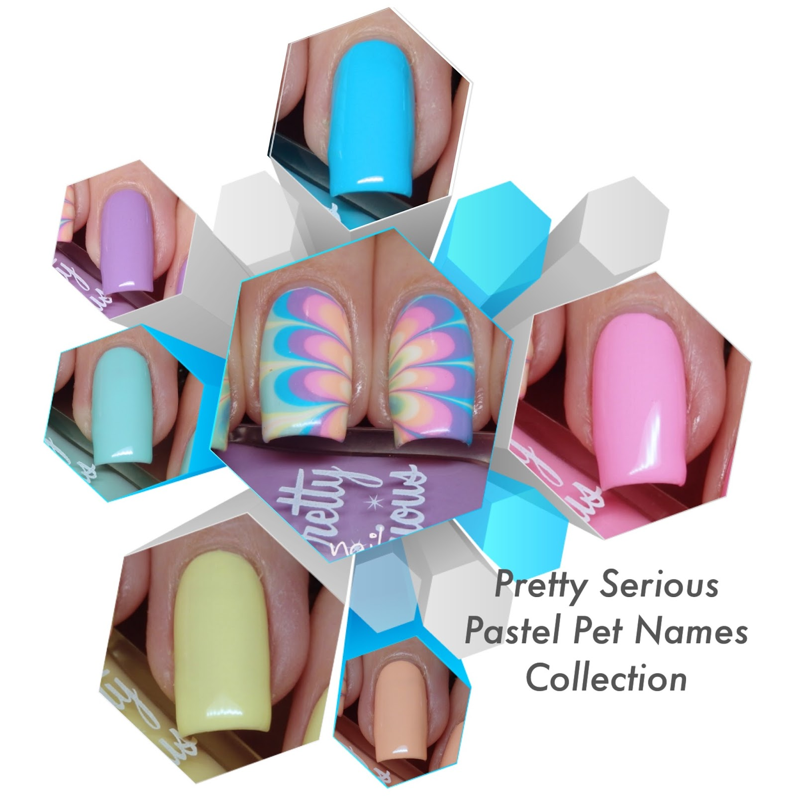 Pastel Pets Names Collection Watermarble