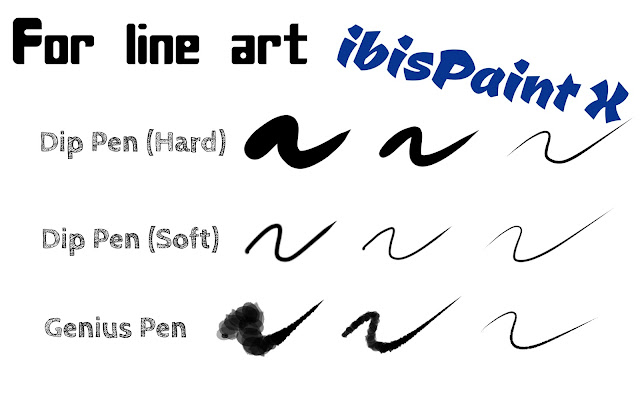 6 Best Brushes for Lineart in ibisPaint X