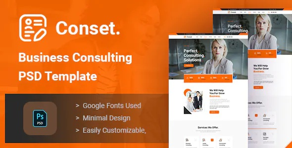 Best Business Consulting PSD Template