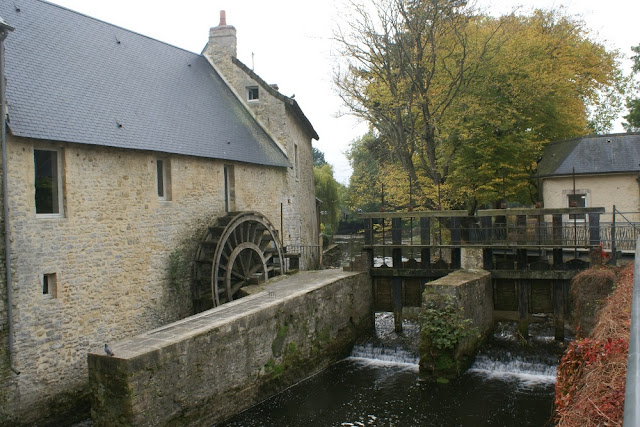 Water wheel  in Bayeux, Normandy