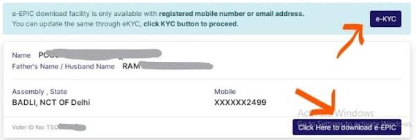 Register Mobile Number on Voter Card Using eKyc
