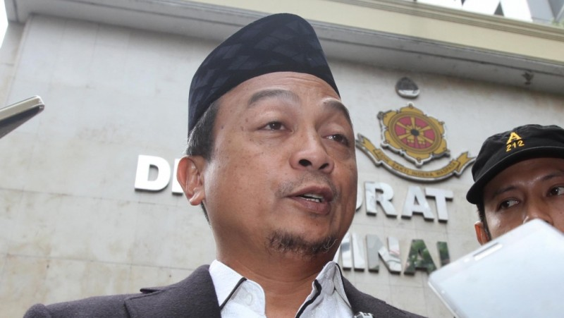 Ketua GNPF MUI Bachtiar Nasir di Polda Metro Jaya