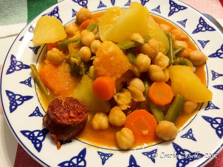 cocido-calabaza-judías-verdes