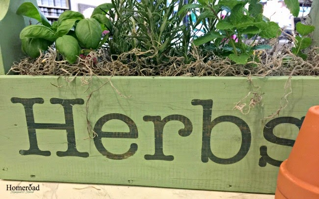 Herb Garden in a Wooden Tote