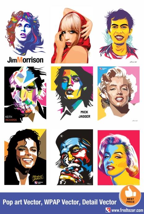 pesan vector wajah, pop art, simple vector, wpap, murah, tidak murahan