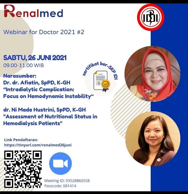 (GRATIS SKP IDI) Webinar Komplikasi Intradialytic dan Pemberian Status Nutrisi kepada pasien HD