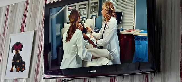 Grey's Anatomy on my TV