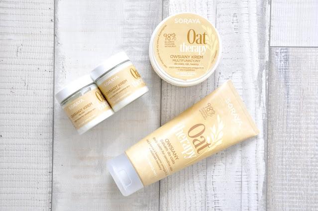 recenzja kosmetyków do pielęgnacji ciała i twarzy soraya oats therapy