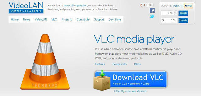 El VideoLAN VLC media player es un reproductor multi-formatos y multiplataformas