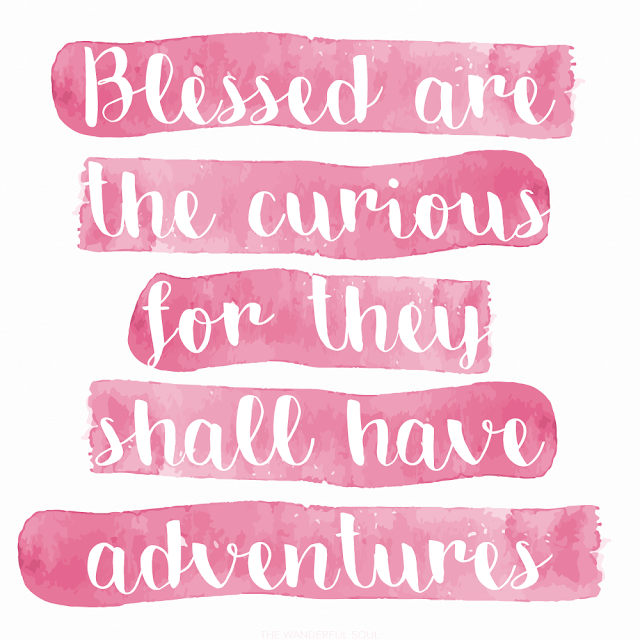 Travel quotes about adventure. Blessed are the curious for they shall have adventures - Lovelle Drachman | The Wanderful Soul Blog