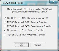 pcsx 2.0.99 speed hacks