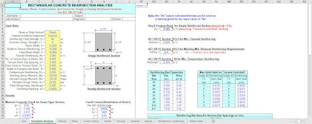 Concrete Beam Design Software