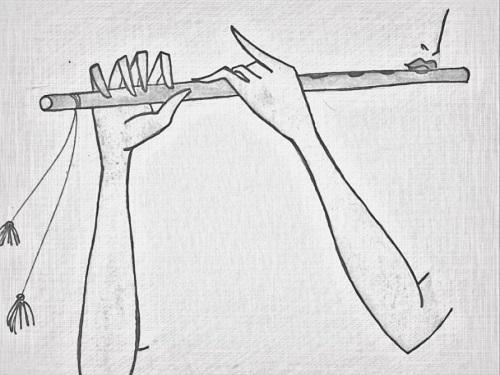 krishna drawing easy pencil