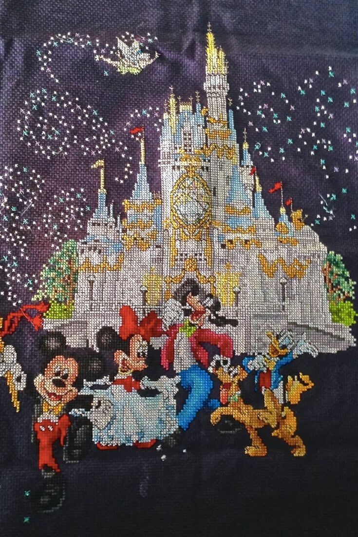 How To Deal With Boredom | Try out cross stitch - like my Disney themed one!