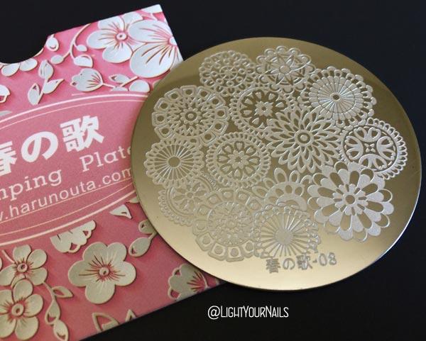 Harunouta 08 春の歌 Nail Art Stamping plate