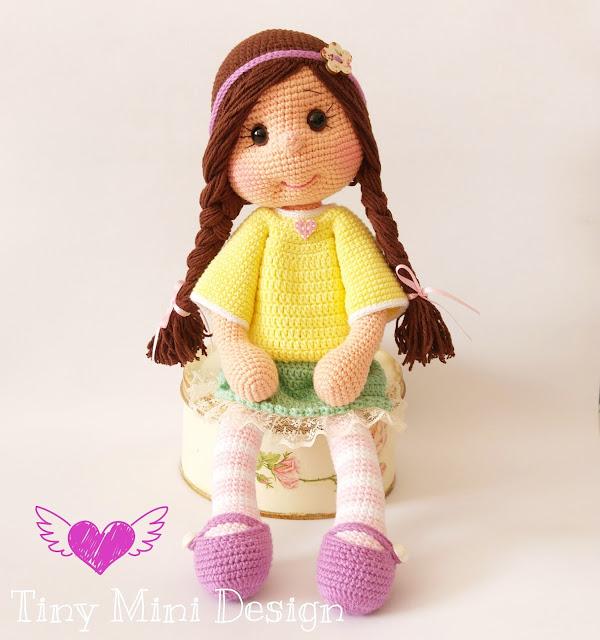 Niloya Amigurumi Free Pattern Doll Oyuncak Bebek : Amigurumi Bebek - Amigurumi Doll - Tiny Mini Design