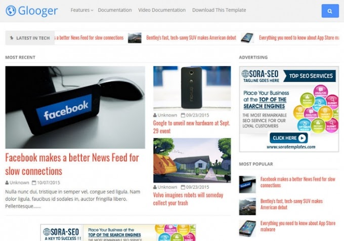 Glooger Blogger Template free Download | Glooger Blogger Theme Download Download
