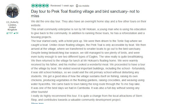 Day tour to Prek Toal floating village and bird sanctuary- not to miss