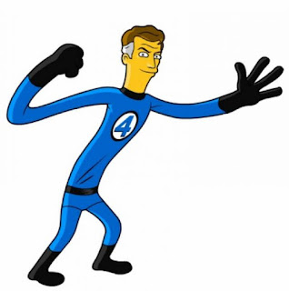 super heroe elastico dibujo azul