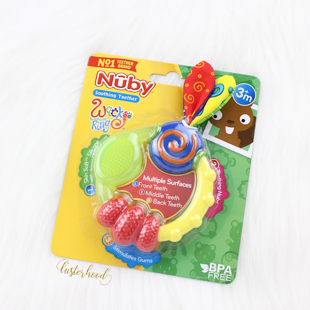 Nuby Wacky Teething Ring  |  Lusterhood