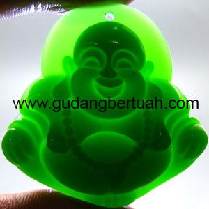 Batu Mustika Liontin Giok Budha Tawa
