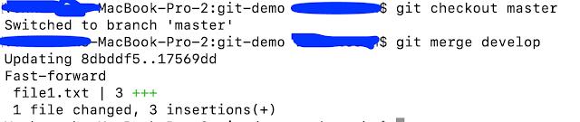 Git Merge Command Example